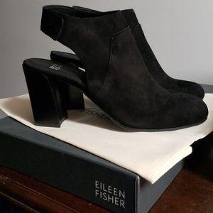 Eileen Fisher black suede